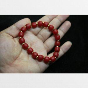 Vòng tay lưu li đỏ cổ từ Tibet