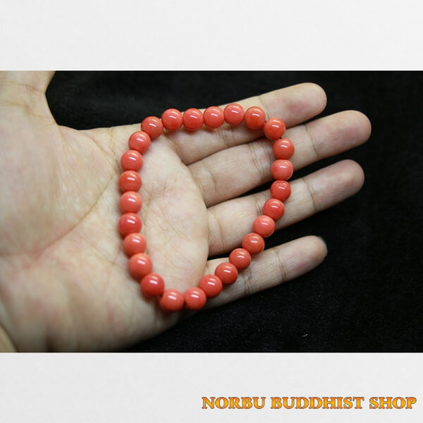 Vòng tay lưu li đỏ đẹp từ Tibet