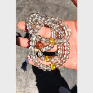 Chuỗi hạt lưu li trong cổ mix hạt cái bồ đề cổ từ Tibet