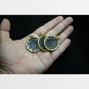 Cửu cung 9 mặt cỡ nhỏ bọc đồng chất đẹp từ Tibet