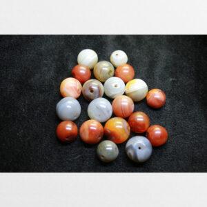 Hạt bead mã não lớn màu đỏ và xám trắng từ đời nhà Thanh old 100 năm