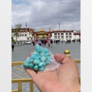 Lam ngọc turquoise thiên nhiên từ Lhasa
