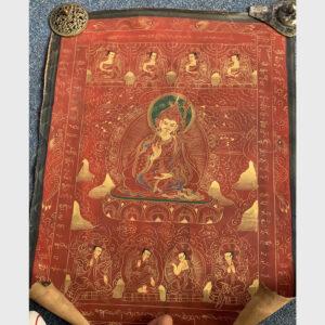 Thangka Guru Rinpoche old 20 năm từ Tibet