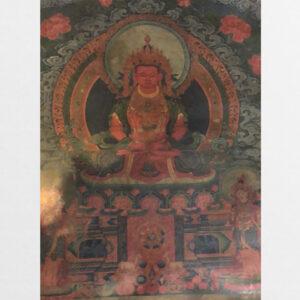 Thangka in trên da thuộc cũ từ Tibet