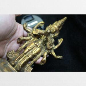 Tôn tượng ngài Quán Âm Thập Nhất Diện antique lớp vàng
