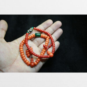 Vòng tay lưu li đỏ và cam chất đẹp mix dzi