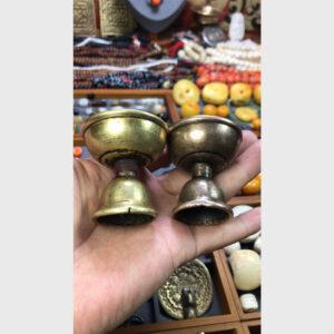 Bộ 2 ly đồng đốt đèn bơ cổ 100 năm từ Lhasa