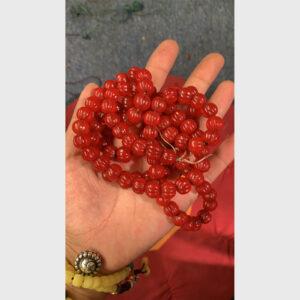 Chuỗi hạt lưu li đỏ bí ngô chất đẹp