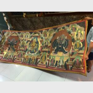 Tranh thangka Tibet cỡ lớn hiếm gặp old 50 năm