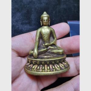 Tượng mini Đức Phật đồng vàng từ Tibet hiếm gặp