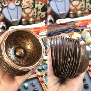 Bộ chén đồng cổ cúng dường nước bày ban thờ từ Tibet