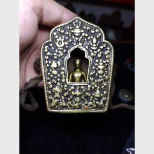 Bộ hộp Gau Tibet cổ 300 năm kèm tượng ngài Thích Ca hiếm gặp