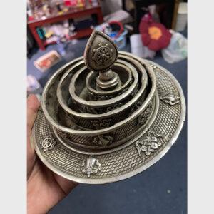 Bộ mandala bằng đồng thiếc chất đẹp thủ công