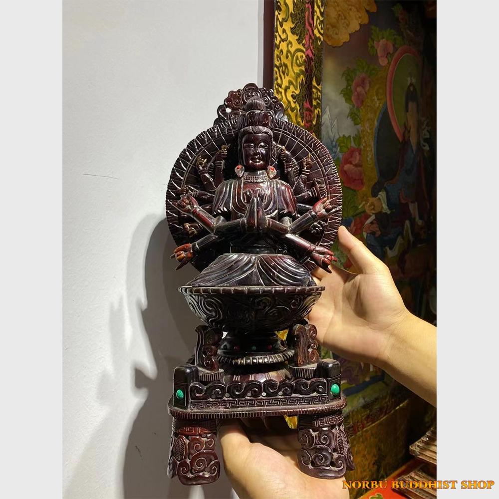 Order Tibet: Tượng cổ bằng gỗ Phật Bà Quán Âm