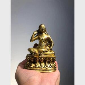 Order Tibet - Tượng cổ ngài Milarepa mạ vàng từ Tibet