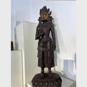 Order Tibet: tượng cổ ngài Quán Âm thế đứng bằng đồng