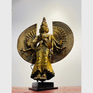 Order Tibet - tượng Phật cổ ngài Quán Âm Thiên Thủ Thiên Nhãn mạ vàng